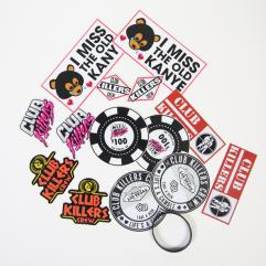 Club Killers Mixed Sticker Pack